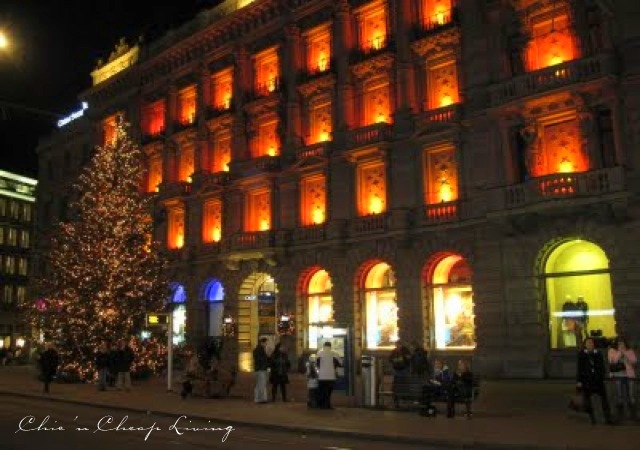 Zurich Banh street at Christmas - by Chic n Cheap Living