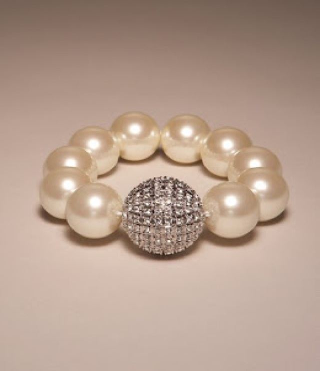 ann taylor pearl bracelet - saved by Chic n Cheap Living