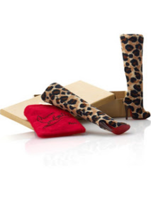 christian louboutin Barbie boots-saved by Chic n Cheap Living