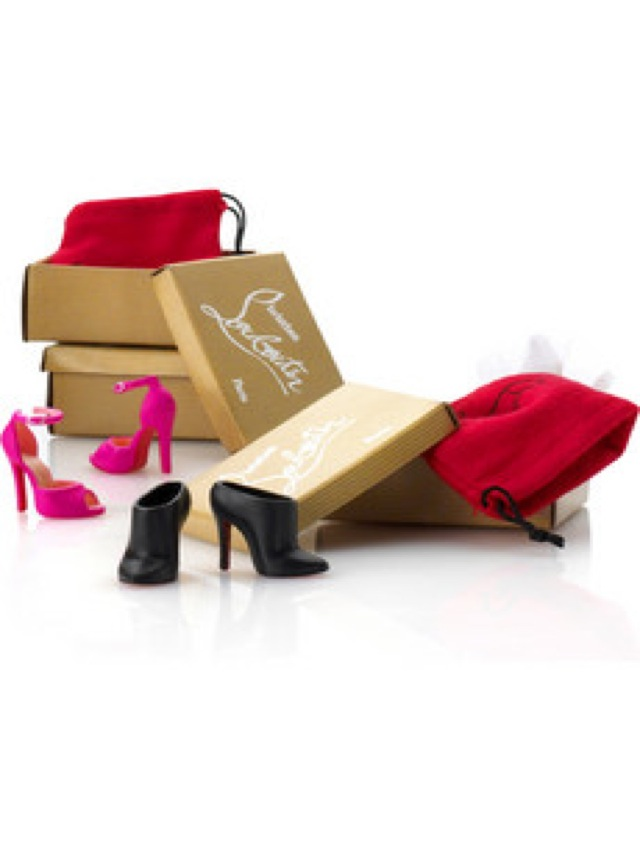 christian louboutin Barbie shoes-saved by Chic n Cheap Living