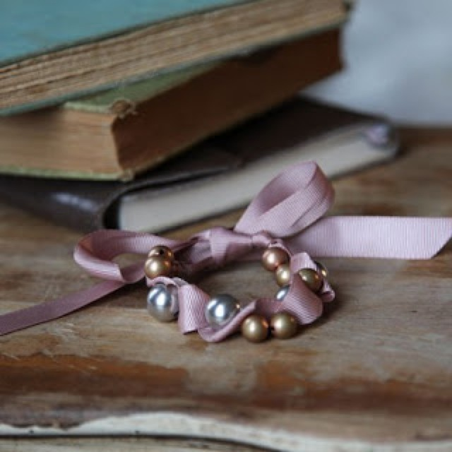 ruche pearl tie bracelet  - saved by Chic n Cheap Living