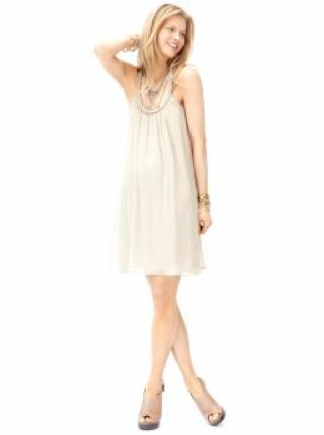 lwd banana republic silk chiffon dress-saved by Chic n Cheap Living