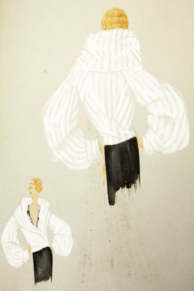 Lanvin sketch of jacket photography by the Selby - saved by Chic n Cheap Living