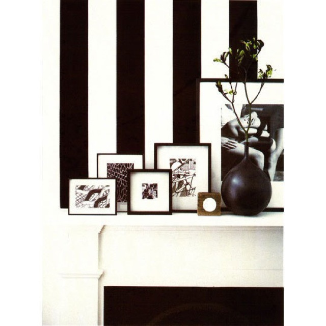 Black white striped wallpaper saved by chic n cheap for Cheap black wallpaper