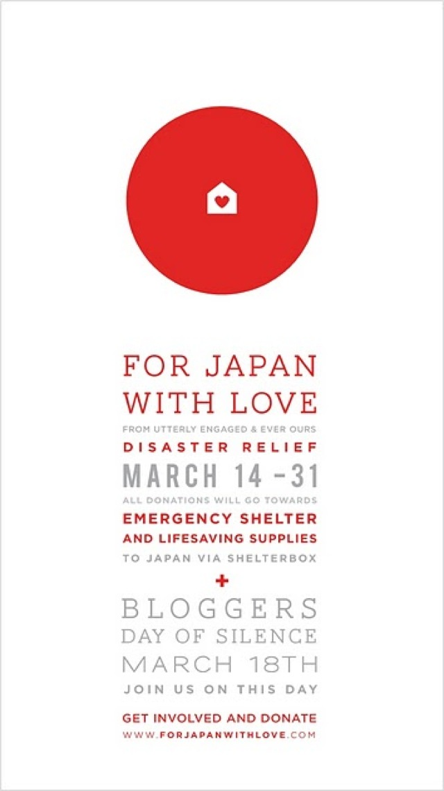 Japan relief for Japan with love - saved by Chic n Cheap Living