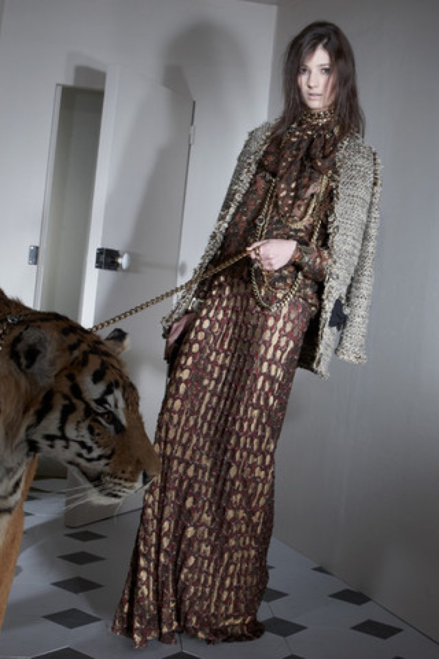 Lanvin-prefall-2011-11_runway2 maxi dress - saved by Chic n Cheap Living