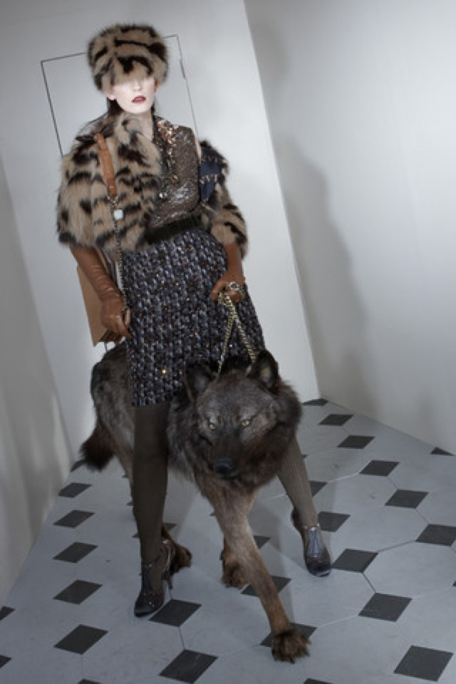 Lanvin-prefall-2011-12_runway fur coat - saved by Chic n Cheap Living