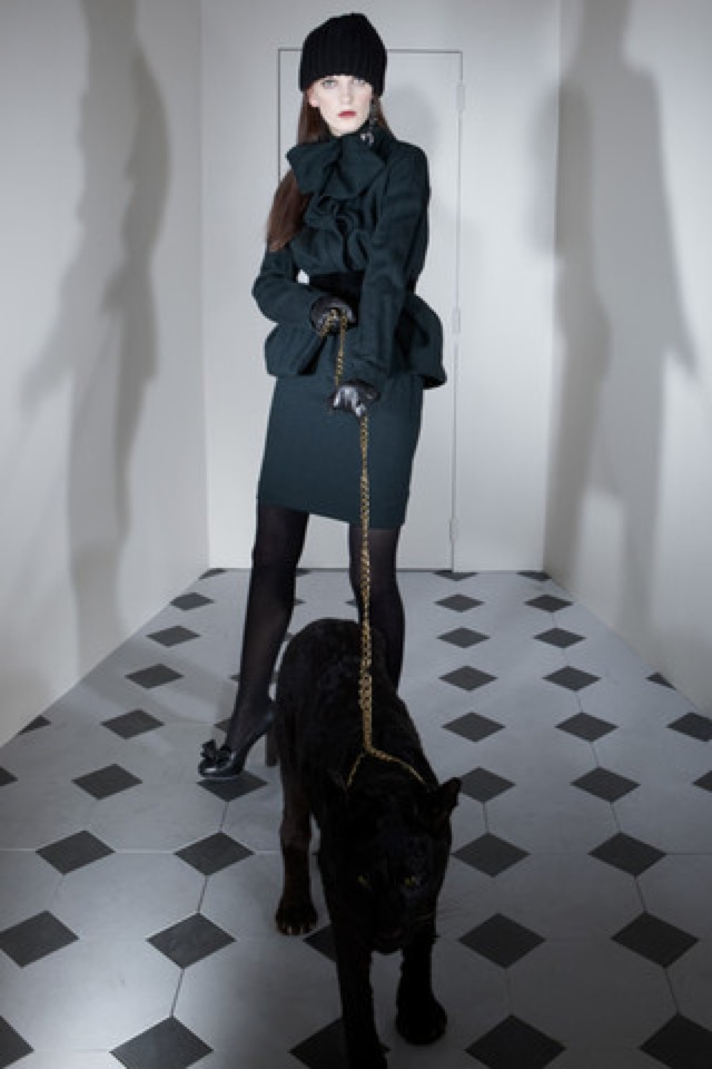 Lanvin-prefall-2011-16_runway7 pencil skirt and coat - saved by Chic n Cheap Living