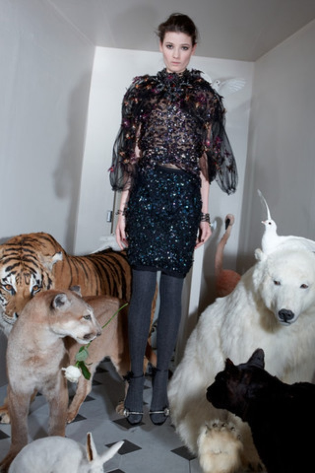Lanvin-prefall-2011-25_runway leopard print top - saved by Chic n Cheap Living