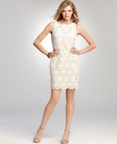 Ann Taylor Bateau Lace Dress