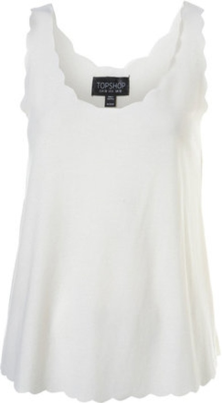 Topshop scallop vest - saved by Chic n Cheap Living