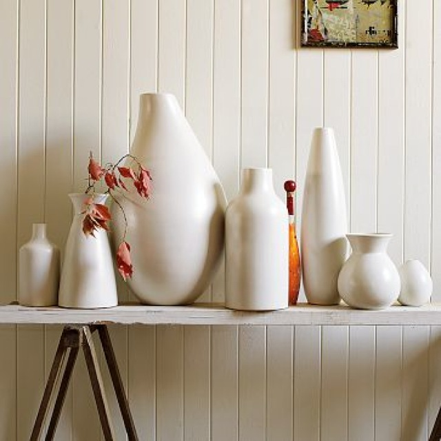 white pure white ceramic vase west elm