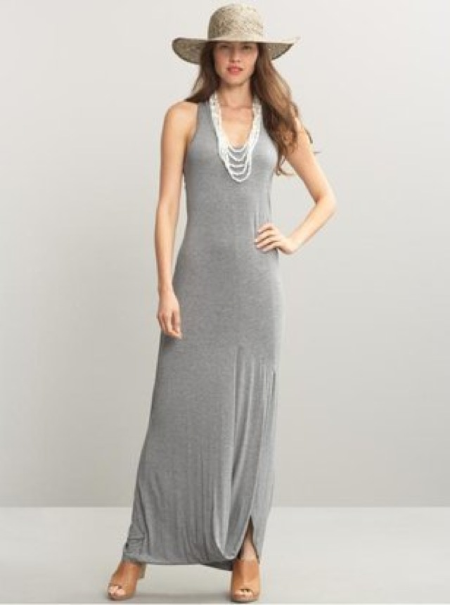 531d0dcf8b2ab High Street Highlight: Summer to Fall Pieces:Banana Republic racerback knit maxi  dress and Old Navy Boat Neck Top (extra 30% off until Oct. 4)