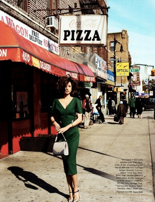 Fifties by pizzeria Miranda Kerr US Harpers Bazaar April 2012-saved by Chic n Cheap Living