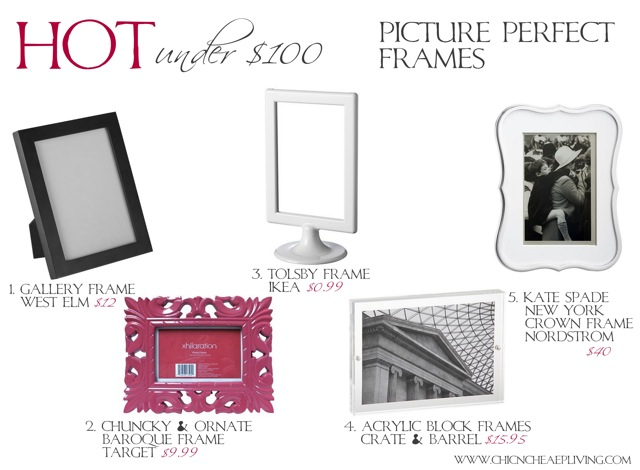 hot under 100 picture perfect frames by chic n cheap living