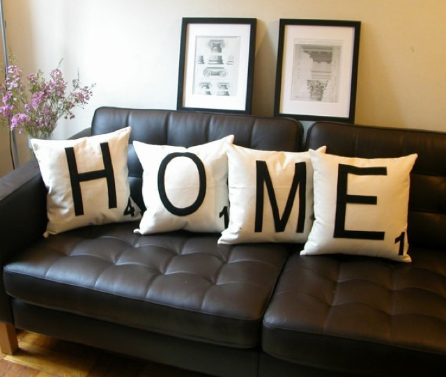 Words as home decor for Cheap chic home decor
