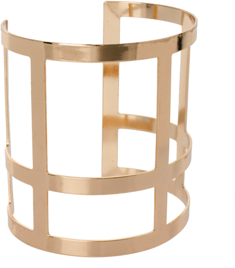 lyst asos-gold-cross-cage-cuff-saved by Chic n Cheap Living