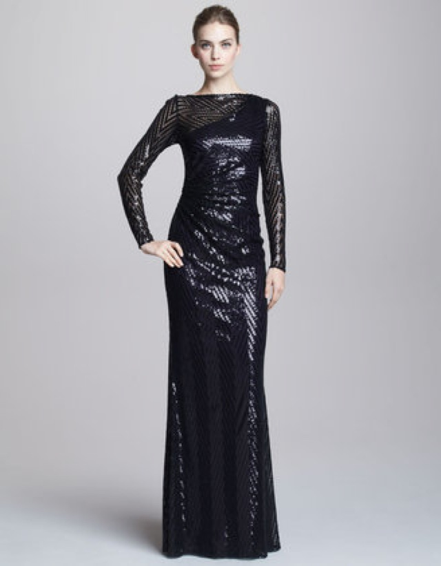 David Meister chevron sequin gown - saved by Chic n Cheap Living ...