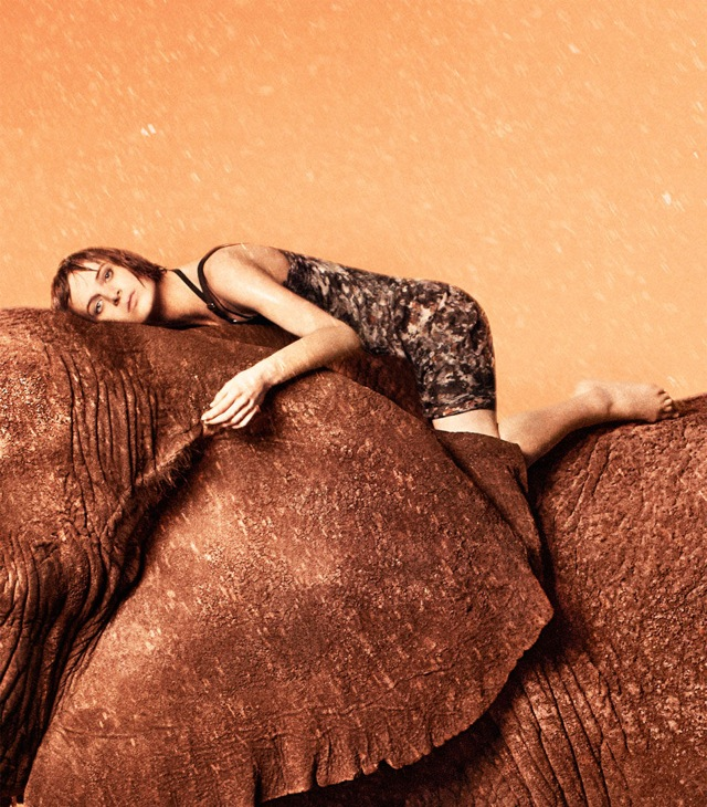 EDUN SS 2013 on elephant Jeneil Williams & Julia Frauche by Ryan McGinley - saved by Chic n Cheap Living