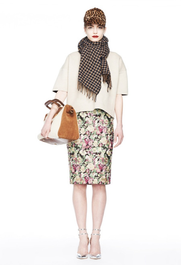 J. Crew pink floral skirt Fall 2013 RTW - saved by Chic n Cheap Living