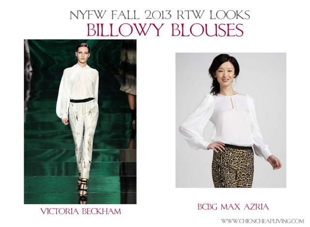 NYFW Fall 2013 RTW Billowy Blouses by Chic n Cheap Living
