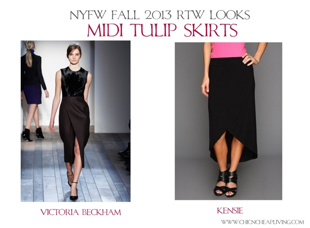 NYFW Fall 2013 RTW Midi tulip skirts by Chic n Cheap Living