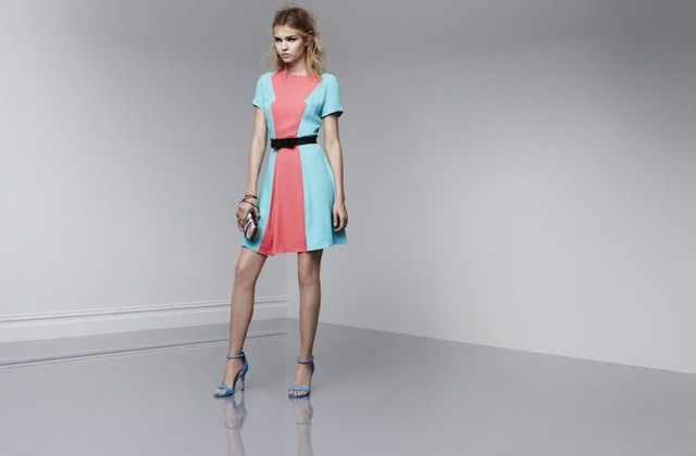 prabal-target-short sleeve dress in calypso coral - saved by Chic n Cheap Living
