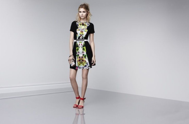 prabal-target-short sleeve dress in first date print - saved by Chic n Cheap Living