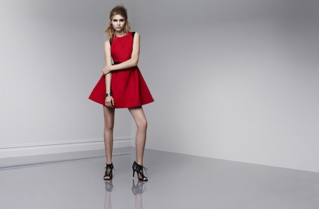 prabal-target-sleeves dress in apple red and black - saved by Chic n Cheap Living