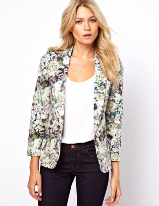 ASOS OASIS Floral blazer - saved by Chic n Cheap Livig