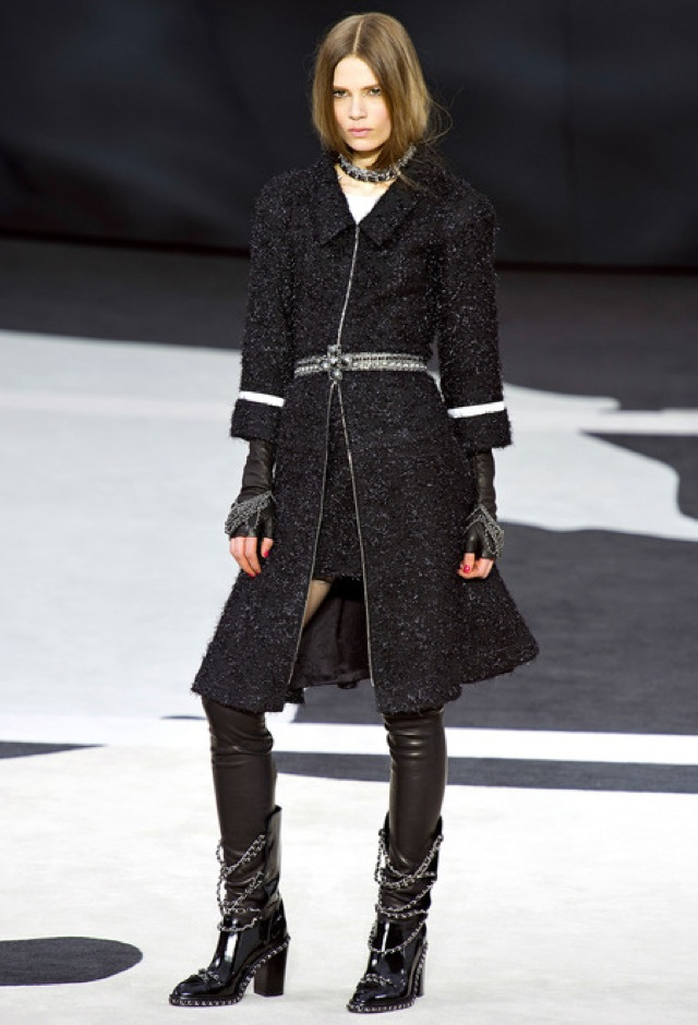 Chanel fall 2013 RTW glitter long coat - saved by Chic n Cheap Living