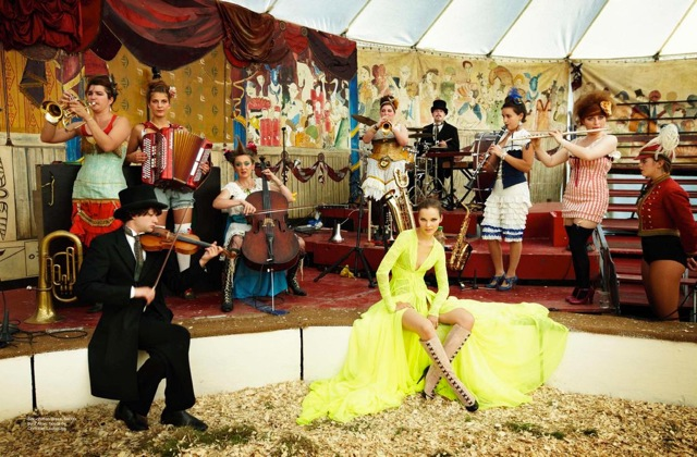 Circus and orchestra Rollup in Marie Claire Australia Jan 2013 - saved by Chic n Cheap Living