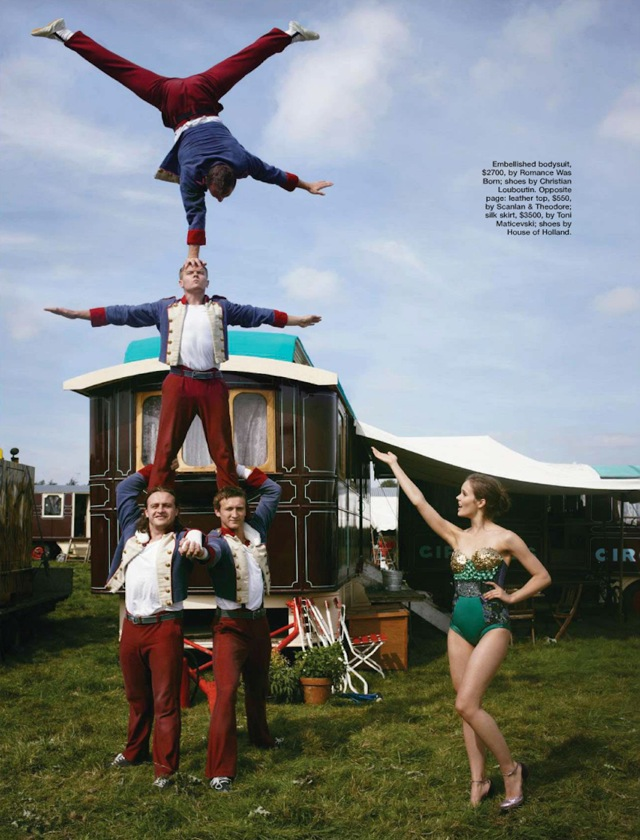 Circus and pyramid Rollup in Marie Claire Australia Jan 2013 - saved by Chic n Cheap Living