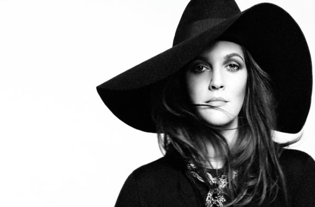 Drew Barrymore with hat in US Harpers Bazaar March 2013 - saved by Chic n Cheap Living