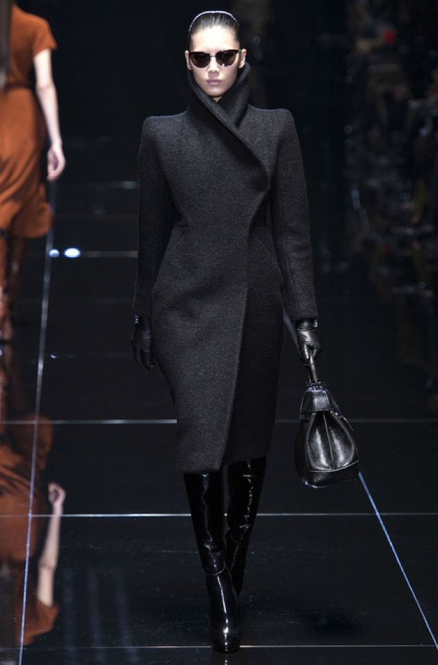 Gucci Fall 2013 RTW black structured coat