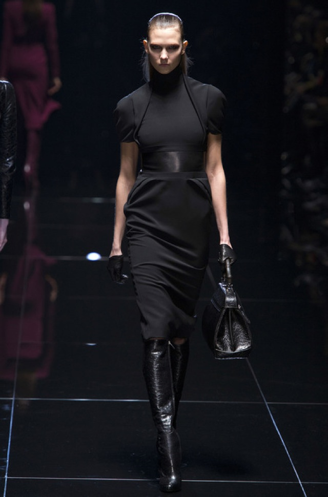 Gucci Fall 2013 RTW black structured dress - saved by Chic n Cheap Living