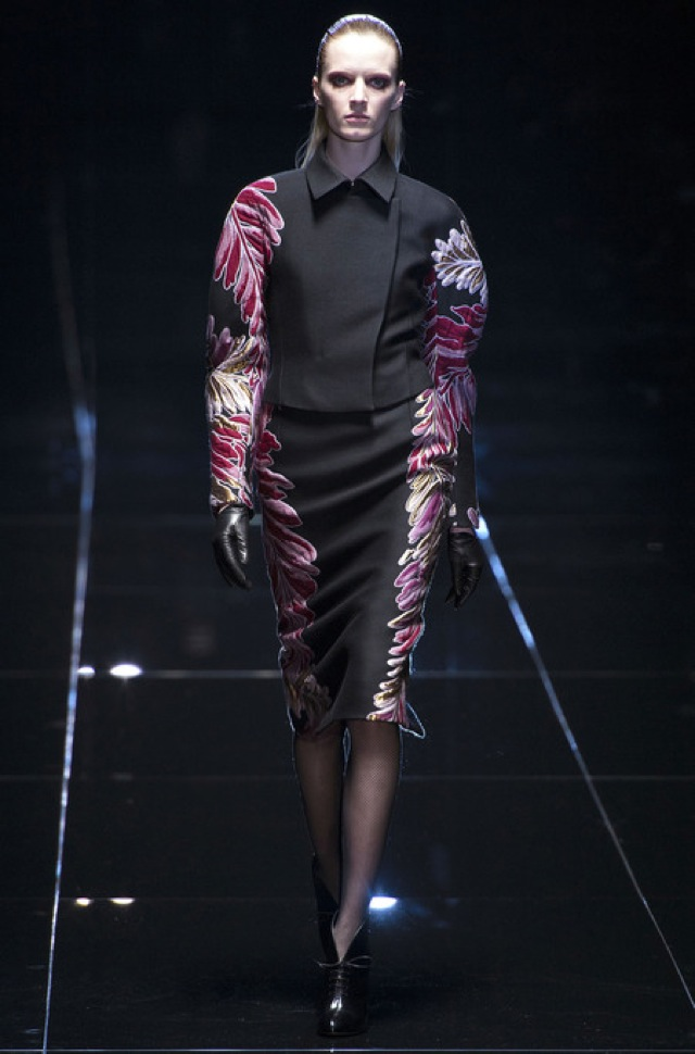 Gucci Fall 2013 RTW black suit with embroidered sides - saved by Chic n Cheap Living