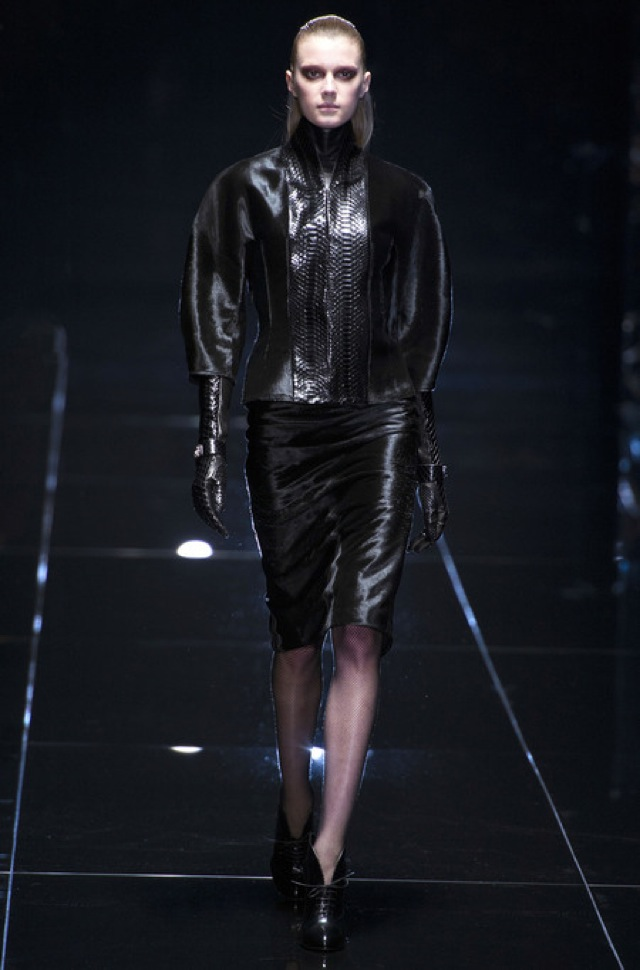 Gucci Fall 2013 RTW black suit with satin sides - saved by Chic n Cheap Living