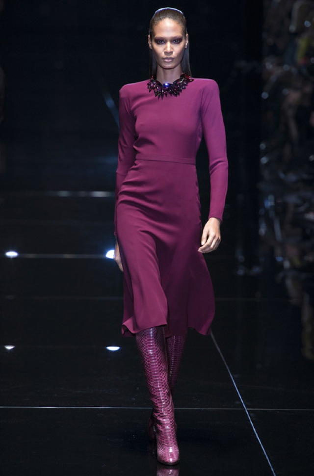 Gucci Fall 2013 RTW dress with snakeskin boots - saved by Chic n Cheap Living