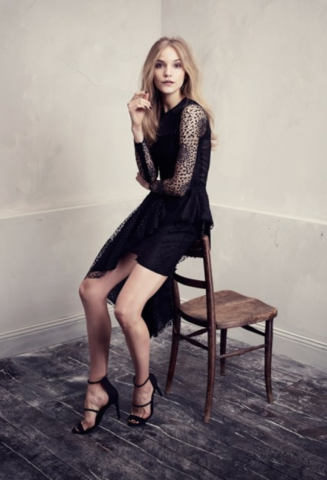 HM Conscious Partywear collection black lace dress - saved by Chic n Cheap Living