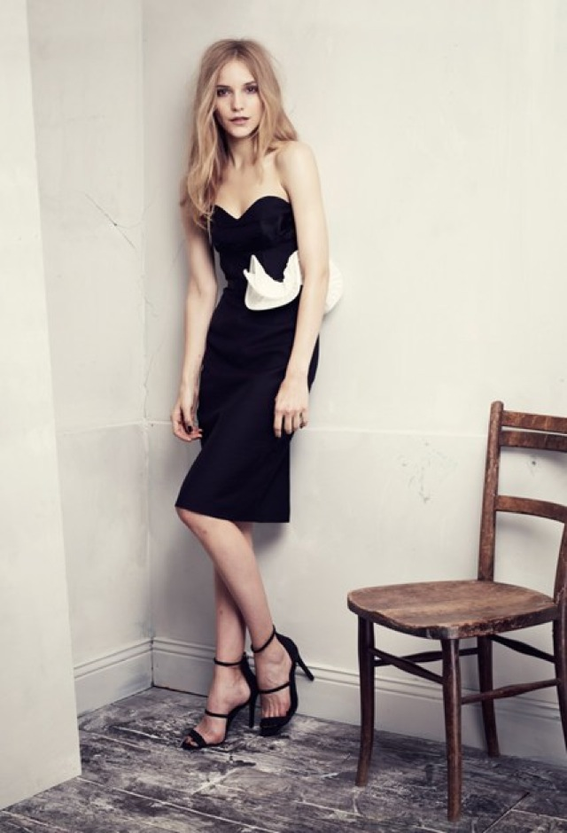 HM Conscious Partywear collection black strapless dress- saved by Chic n Cheap Living