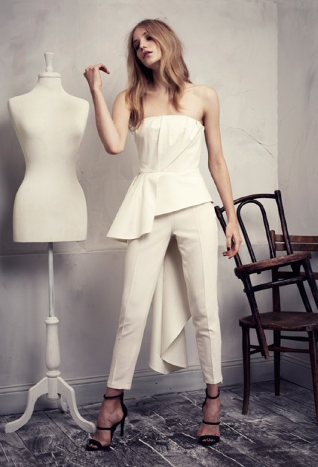 HM Conscious Partywear collection cream corset top- saved by Chic n Cheap Living