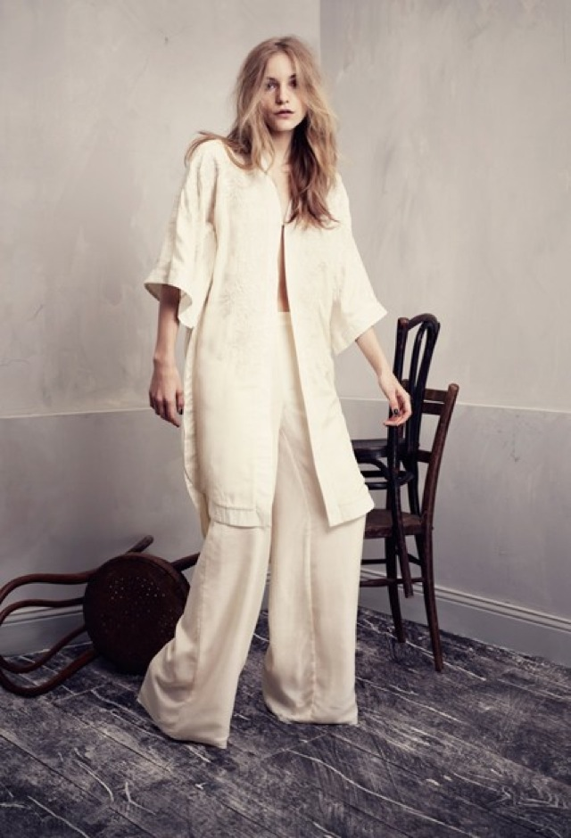 HM Conscious Partywear collection cream kimono- saved by Chic n Cheap Living