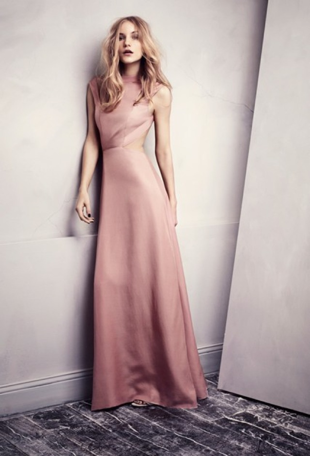 HM Conscious Partywear collection pink backless dress - saved by Chic n Cheap Living
