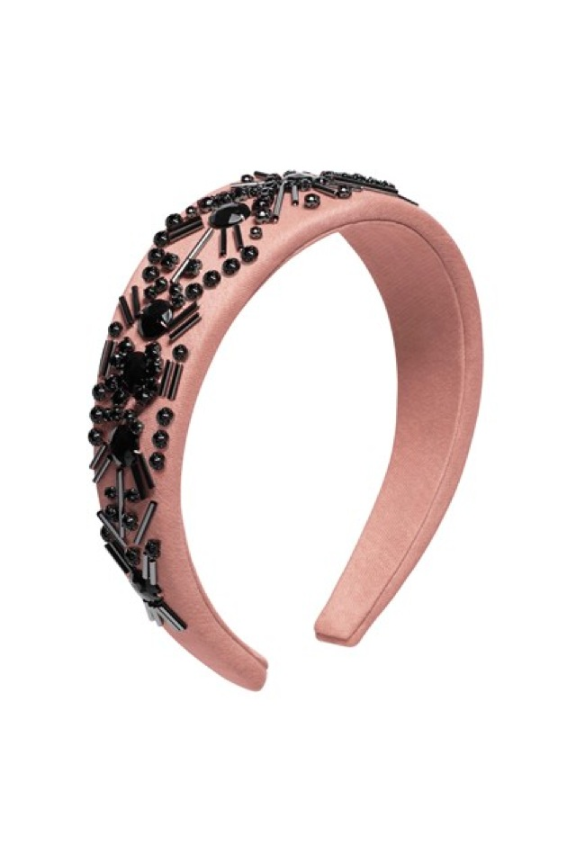 HM Conscious Partywear collection pink black headband- saved by Chic n Cheap Living