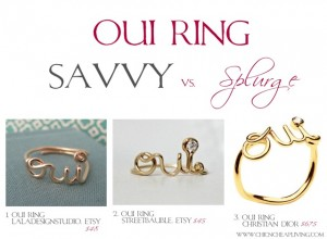 Oui ring choices by Chic n Cheap Living