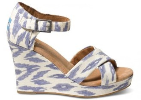 Toms Village blue ikat wedges - saved by Chic n Cheap Living