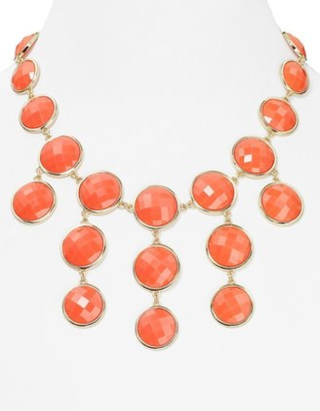 Bloomingdale's aqua round faceted necklace - saved by Chic n Cheap Living