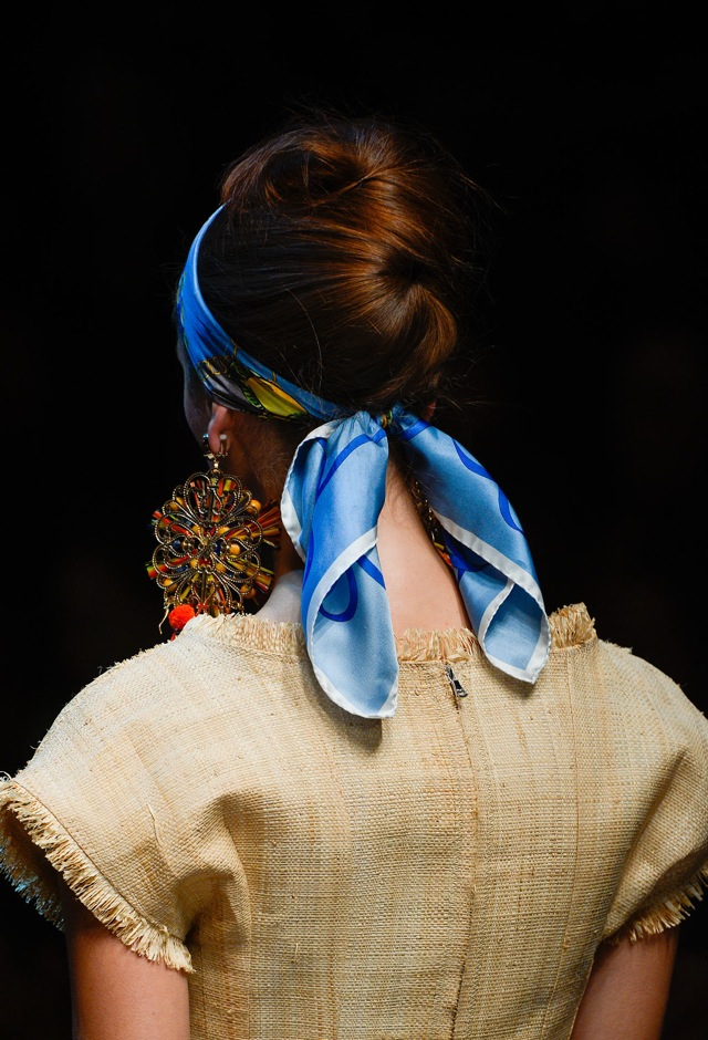 Details Dolce Gabbana Spring 2013 scarf headband- saved by Chic n Cheap Living