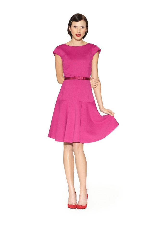 kate_young_for_target_look fitted pink dress - saved by Chic n ...